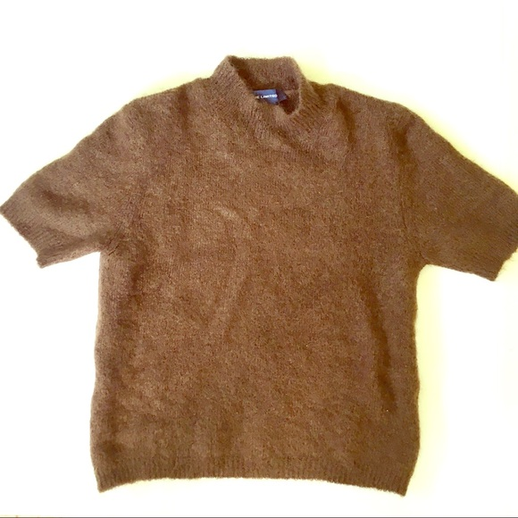 The Limited Sweaters Brown Short Sleeve Mock Neck Sweater Poshmark
